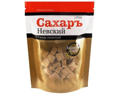 Сахар кусковой колотый Сахаръ Невский тростниковый 420 г - (607876К)
