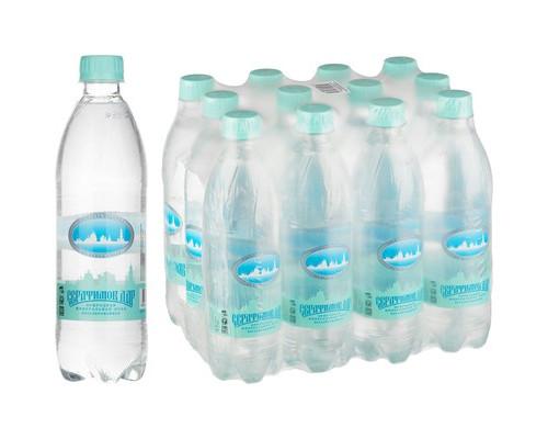 Вода Минеральная Серафимов Дар негазированная 0.5 л.12 штук в упаковке - (612859К)