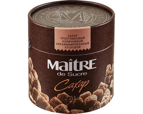 Сахар кусковой Maitre de Sucre тростниковый 270 г - (366387К)