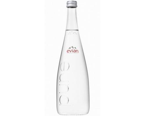 Вода минеральная Evian негазированная 0.75 л 12 штук в упаковке - (323832К)