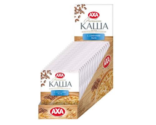 Каша Аха овсяная с семенами льна 20 штук по 40 г - (633266К)