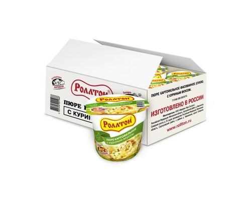 Пюре картофельное Роллтон с куриным вкусом 40 г 24 штуки в упаковке - (539356К)