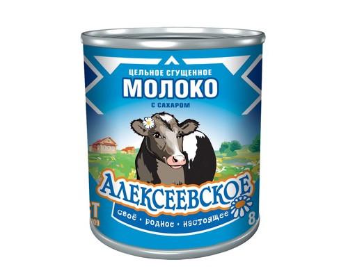 Молоко сгущенное Алексеевское с сахаром 8.5% 380 г - (441605К)