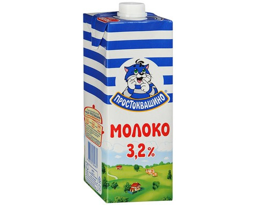 Молоко Простоквашино ультрапастеризованное 3.2% 950 мл - (333707К)