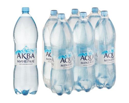 Вода питьевая Аква Минерале негазированная 2 л 6 штук в упаковке - (493891К)
