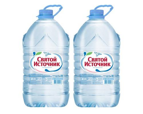 Вода питьевая Святой Источник негазированная 5 литров 2 штуки в упаковке - (258881К)