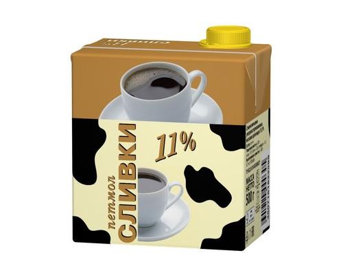 Сливки Петмол ультрапастеризованные 11% 0.5 л - (333708К)