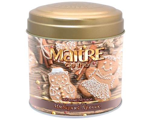 Чай Maitre Имбирный пряник черный 90 г - (516611К)