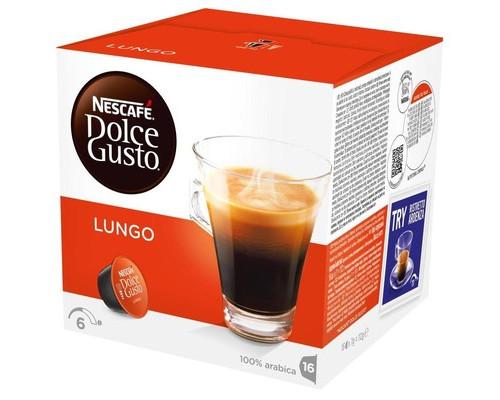 Капсулы для кофемашин Dolce Gusto Lungo 16 штук в упаковке - (185130К)