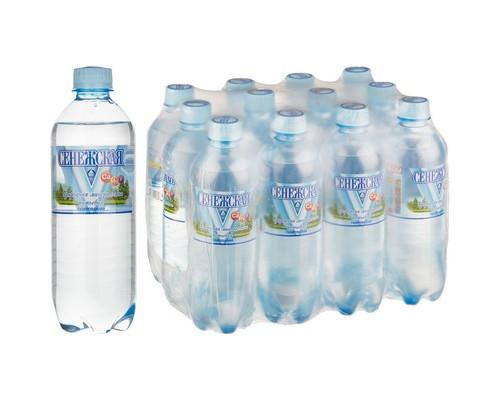 Вода минеральная Сенежская газированная 0.5 л 12 штук в упаковке - (456933К)