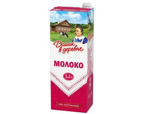 Молоко Домик в деревне ультрапастеризованное 3.2% 1.45 кг - (271575К)