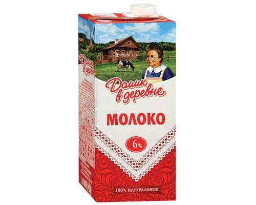 Молоко Домик в деревне ультрапастеризованное 6% 950 г - (530420К)