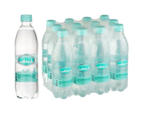 Вода минеральная Серафимов Дар газированная 0.5 л 12 штук в упаковке - (612860К)