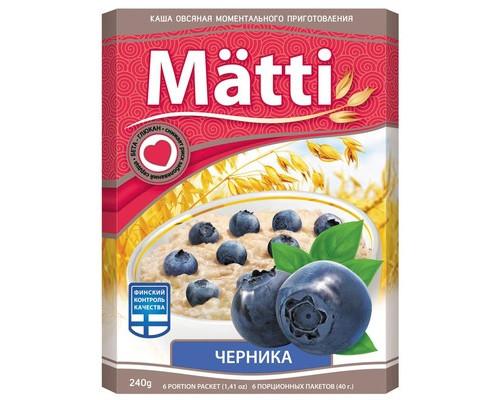 Каша Matti овсяная с черникой 6 штук по 40 г - (421012К)