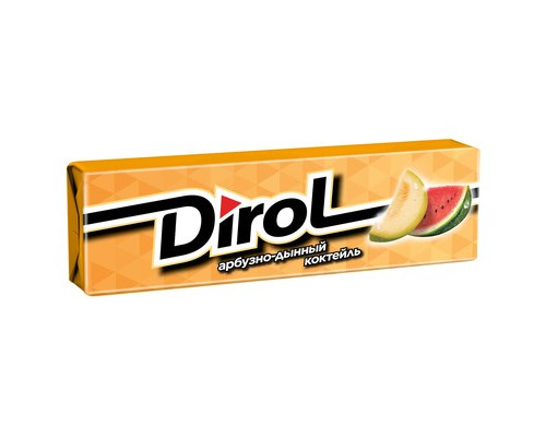 Жевательная резинка Dirol Арбузно-дынный коктейль 13.6 г - (424432К)