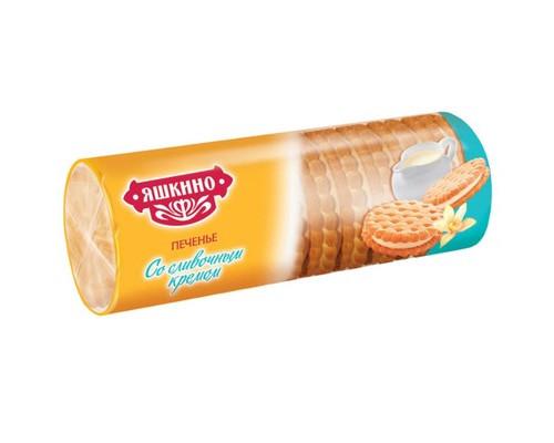 Печенье затяжное Яшкино со сливочным кремом 182 г - (450210К)