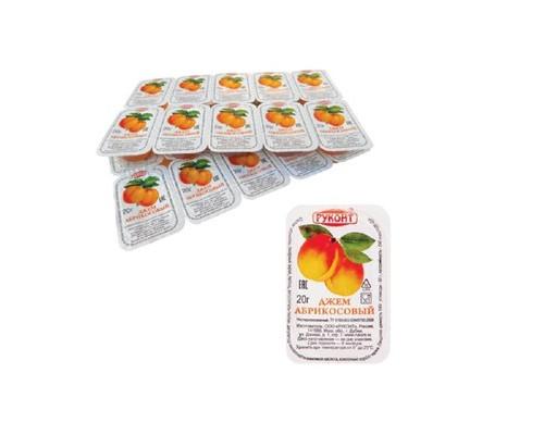 Джем порционный Руконт абрикос 20 штук в упаковке - (108424К)