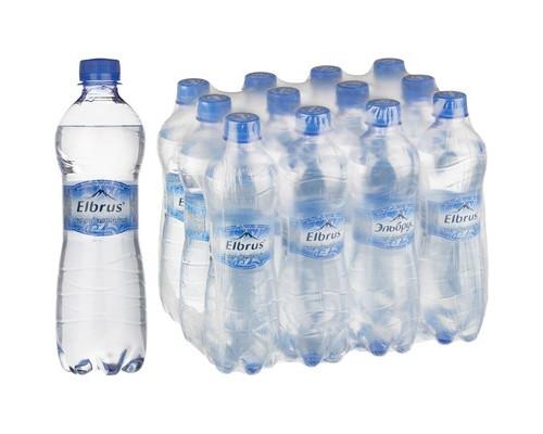 Вода минеральная Эльбрус газированная 0.5 л 12 штук в упаковке - (383751К)