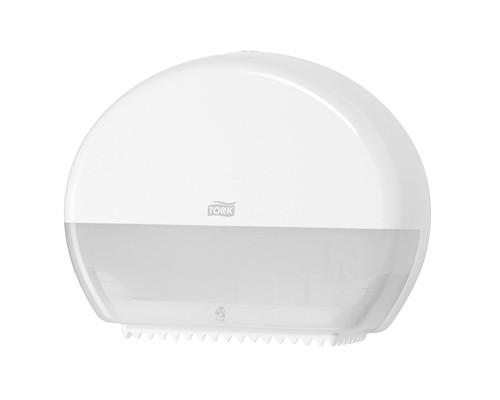 Держатель для туалетной бумаги диспенсер Tork Elevation Т2 555000 пластиковый белый - (129103К)