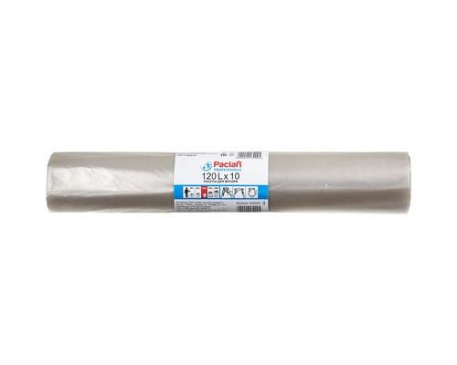 Мешки для мусора на 120 литров Paclan Professional прозрачные 25 мкм в рулоне 10 штук 70x110 см - (273405К)