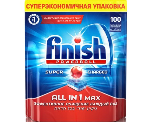 Таблетки для посудомоечных машин Finish Powerball All in 1 Max 100 шт/уп - (602890К)