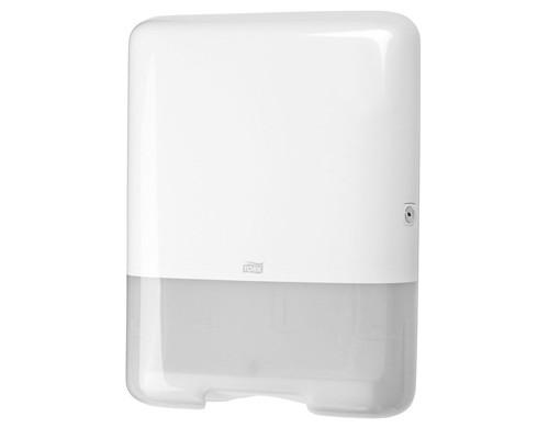 Держатель для полотенец диспенсер Tork Singlefold H3 ZZ/C 553000 пластиковый белый - (129095К)
