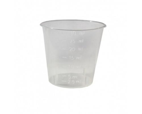 Мерная емкость пластиковая прозрачная 30 мл - (611076К)