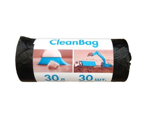 Мешки для мусора на 30 литров с тиснением Концепция Быта черные 10 мкм в рулоне 30 штук 48x55 см - (395511К)