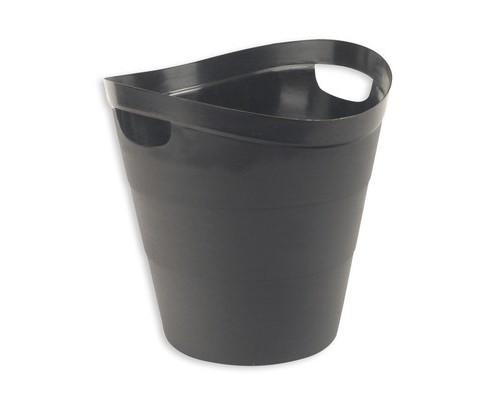 Корзина для мусора 12 л Uniplast пластик черная с ручками - (62365К)