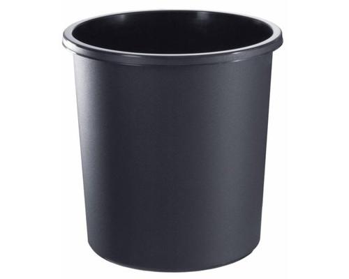 Корзина для мусора СТАММ 18 л пластиковая черная - (382415К)