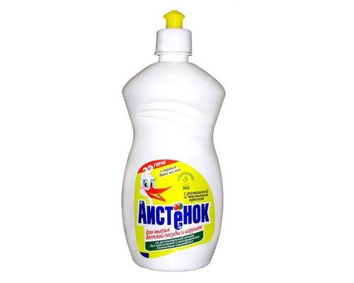 Средство для мытья детской посуды Аистенок 500 мл с экстрактом ромашки и мыльным орехом - (452360К)