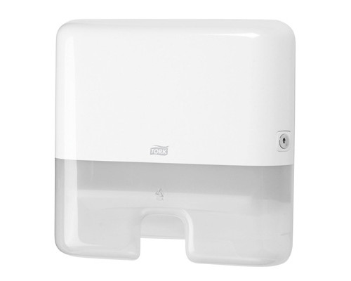 Держатель для полотенец диспенсер Tork Xpress Mini H2 552100 пластиковый белый - (129093К)