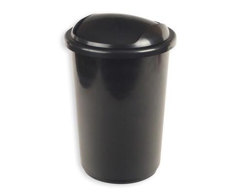 Ведро мусорное 12 л с крышкой-вертушкой пластиковое черный металлик - (62368К)