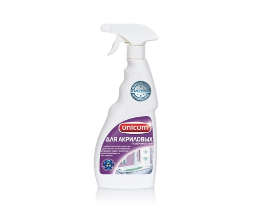 Средство для чистки сантехники UNICUM для акриловых ванн и душевых кабин 500 мл - (571861К)