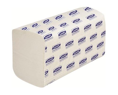 Полотенца бумажные листовые Luscan Professional V-сложения 1-слойные 15 пачек по 250 листов - (601117К)