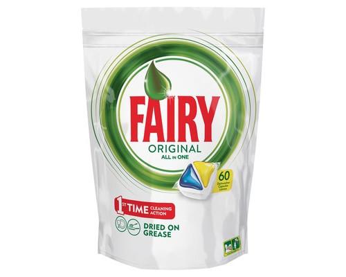 Капсулы для посудомоечных машин FAIRY All in 1 Лимон 60 шт/уп - (638488К)