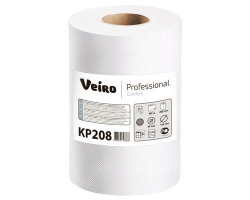 Полотенца бумажные в рулонах Veiro C1/C2 Comfort 2-слойные 6 рулонов по 100 метров - (509555К)