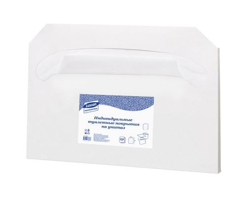 Одноразовые покрытия для унитаза Luscan Professional 1/2 сложения 250 штук - (493581К)