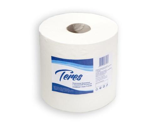 Полотенца бумажные в рулонах Терес Комфорт макси ЦВ Т-0150 1-слойные 6 рулонов по 270 метров - (140680К)