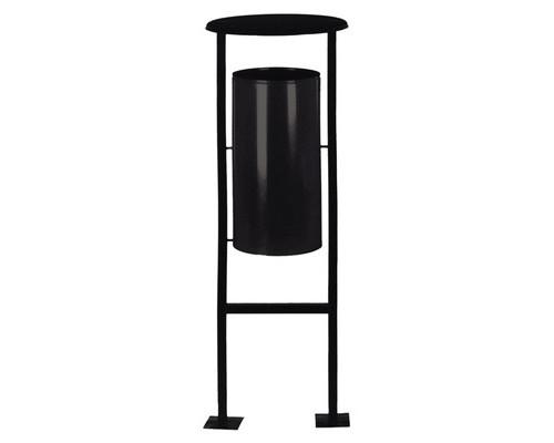 Урна для улицы 24 л Титан N65 металлическая черная - (168994К)