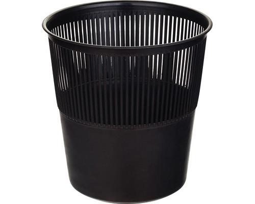 Корзина для мусора 10 л пластиковая черная - (325533К)