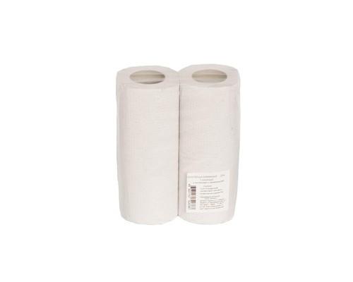 Полотенца бумажные серые с тиснением однослойные 2 рулона - (139318К)