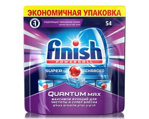 Таблетки для посудомоечных машин Finish Quantum Max 54шт/уп - (660646К)