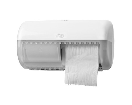 Держатель для туалетной бумаги диспенсер Tork Elevation Т4 557000 пластиковый белый - (170252К)