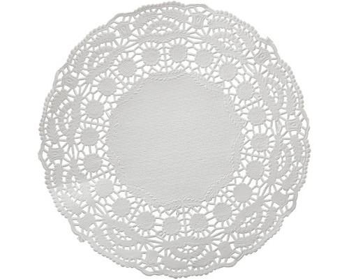 Ажурные салфетки бумажные Vitto 1-слойные 16x16 см белые с тиснением 100 штук - (456478К)