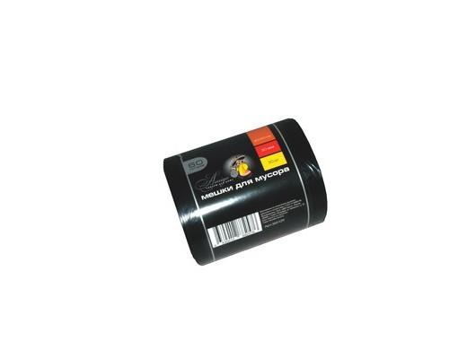 Мешки для мусора на 60 литров Amigo черные 30 мкм в рулоне 50 штук 60x90 см - (365129К)