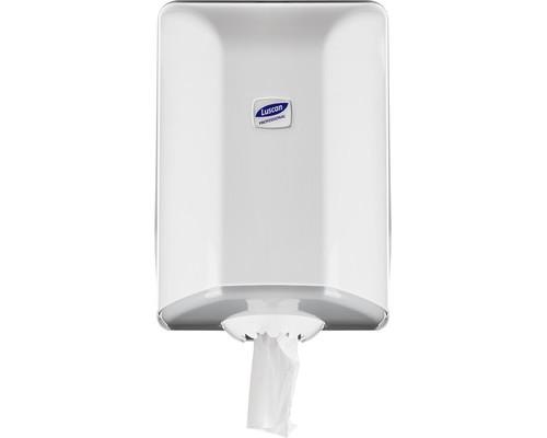 Держатель для полотенец диспенсер с центральной вытяжкой Luscan Professional пластиковый белый - (479409К)