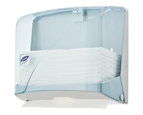 Держатель для полотенец диспенсер Luscan Professional Z пластиковый синий прозрачный - (479406К)