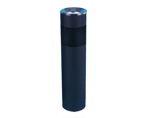 Урна с емкостью для пепла Титан N56 10 л оцинкованная сталь хромированная цвет черный - (3969К)