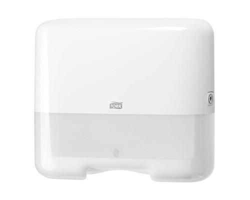 Держатель для полотенец диспенсер Tork Mini Singlefold H3 ZZ/С 553100 пластиковый белый - (129097К)